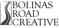 Bolinas Road Creative logo is a winding road.