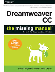 Book cover of Dreamweaver CC: The Missing Manual, 2nd edition.